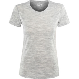 super.natural Base 140 Tee Women ash melange
